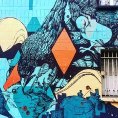 Birds by @retrograffitism #retro #retrograffitism #ortopark #137 #birds #streetart #graffiti #graff #spray #bombing #wall #instagraff #urbanart #streetarteverywhere #streetphoto #urbanwalls Rue Python #paris
