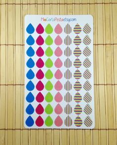 Tooti Frooti Tear Drops for planners. Made by MioCartaPesta