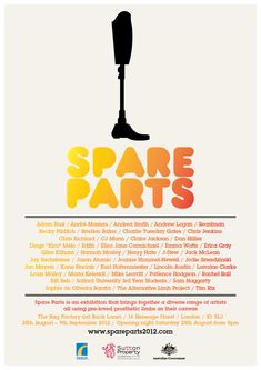 Spare Parts 2012 | an exhibition that brings together a diverse range of artists all using pre-loved prosthetic limbs as their canvas