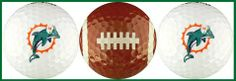 Miami Dolphins Golf Balls 3 Piece Gift Set with NFL Football Team Logos by Enjoy Life. $9.95. Officially licensed NFL football team sports product.. Wonderful gift item for your favorite NFL football sports fan.. Clear gift packaging protects balls and adds visual appeal.. Printed with high gloss ink, won't chip or fade with use.. Brand new, top quality, colorful, team logo, golf balls.. NFL football sports, set of three gift packed, colorful, team logo, top quality, bra...