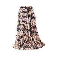 0399ea89df83d Vintage Boho Maxi Skirt Size 1X ( 60) ❤ liked on Polyvore featuring skirts