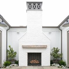 If your fireplace is in desperate need of a new appearance, you've come to the correct place! Because of this, seeing a brick fireplace is rather common, but there's more than 1 style. White brick fireplace employs unused bricks to… Continue Reading → Outdoor Decor, Outdoor Space, White Brick Fireplace, Outdoor Rooms, House Exterior, Fireplace Design, Outdoor Fireplace, Painted Brick, Outdoor Design