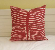 Brunschwig and Fils Le Zebre in Red Animal by SewSusieDesigns, $50.00