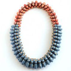 Peter Hoogeboom, Blue Clay Affair, necklace, ceramics, silver, cork, 2011