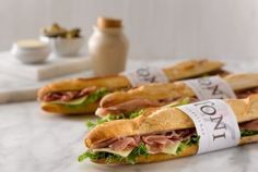 Toni Patisserie and Café, Hinsdale and Chicago. Lunch and early dinner Baguette Sandwich, Sandwich Bar, French Cafe Menu, French Bistro, Bistro Food, Gourmet Sandwiches, Cooking Recipes, Healthy Recipes, Cafe Food