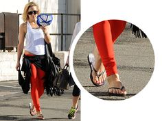 SPOTTED: Kate Hudson sporting one of our Slim prints flip-flops!