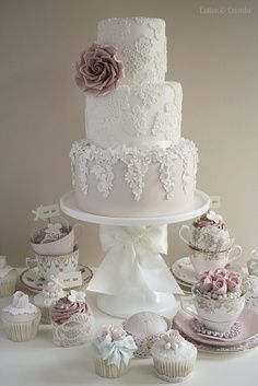 wedding cake-- the colors more so than anything-- the bottom almost looks like my dress colors