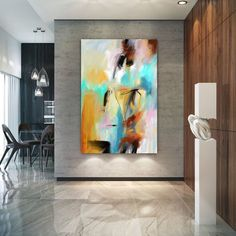 Abstract Canvas Original Paintings Abstract Paintings Wall Art for Luxury Interiors Living room decor Huge Size Art, Office Wall Art