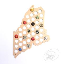 Beer Cap Map Maine Beer Cap Map Beer Cap Holder Gift gift by Oksis