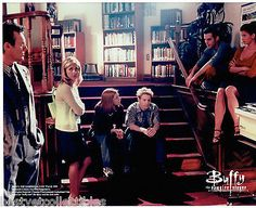 Buffy The Vampire Slayer Buffy Cast in Library Licensed Rare Photo