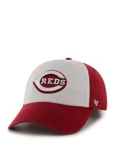 '47 Cincinnati Reds Mens Red Freshman Clean Up Adjustable Hat