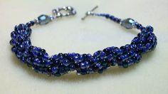 blue bracelet  FREE SHIPPING 8 inch  toggle by Braceletsbymaryle, $32.00