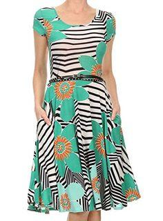 Avital Belted Slimming Day Dress (Green Flower, Small) Av... http://www.amazon.com/dp/B01F5XVNYI/ref=cm_sw_r_pi_dp_nhWuxb1ZCA23F #green #orange #black #white #geometric #floral #flowers #bright #flowy #shortsleeve #belt #long #sale #clearance #discount #cute #adorable #fierce #women #fashion #womensfashion #savvy #stylesavvy #styleforless