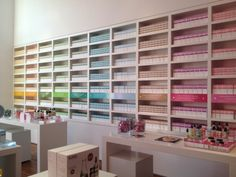 Color-coded products at the SUPER by Dr. Nicolas Perricone store in Malibu.