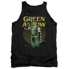 Green Arrow DC Comics Superhero Hypno Target Adult Tank Top Shirt