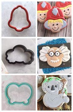 This coming March at CookieCon in Reno, I'll be teaching strategies on re-purposing cutters, classroom style! I'll be pulling out some of… No Bake Sugar Cookies, Owl Cookies, Iced Cookies, Cut Out Cookies, Cute Cookies, Royal Icing Cookies, Cupcake Cookies, Cupcakes, Cookies Decorados
