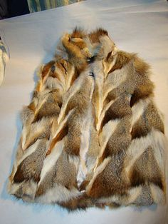 Pre Owned Ladies Size Small Rabbit Fur Silver Fox Fur Vest Near Mint Condition | eBay