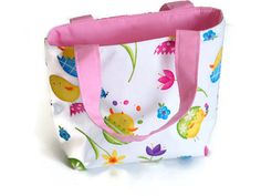 Play date Tote Bag  Chicks and Flowers by BagsAndPursesbyBeth