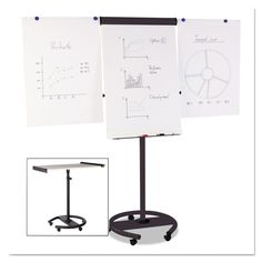 MasterVision Mobile Magnetic Dry Erase Easel - BVCEA4806156