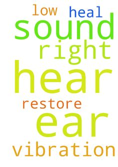 Please pray for me as I can hear a vibration sound - Please pray for me as I can hear a vibration sound in my right ear . I hear low from my right ear. Pray Jesus to heal me and restore my ear Posted at: https://prayerrequest.com/t/QiE #pray #prayer #request #prayerrequest