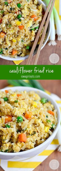 Cauliflower Fried Rice will trick your tastebuds in the best way possible. This 20 minute grain-free, low-carb dish will be a hit at your house!