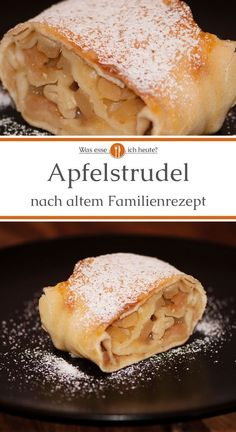 Austrian style apple strudel - What do I eat today? - In the apple strudel recipe, the frequently used strudel dough is replaced by a pasta dough. Apple Recipes Easy, Apple Dessert Recipes, Easy Desserts, Pastry Recipes, Gourmet Recipes, Baking Recipes, Apple Strudel Recipe From Scratch, Austrian Recipes, German Recipes