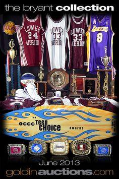 Kobe Bryant Memorabilia on Auction