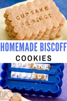 Homemade Biscoff Cookies / homemade speculoos are simple to make and hugely rewarding. They are even more fun when you write a custom message on them! Biscoff cookies are a simple cinnamon/sugar biscuit-type cookie with an ingredient list that doesn't contain any funky chemicals or high fructose corn syrup! via @cupcakeproject Fun Baking Recipes, Amish Recipes, Dutch Recipes, Cookie Recipes, Dessert Recipes, No Bake Cookies, Cupcake Cookies, Speculoos Cookies, Afternoon Tea Recipes
