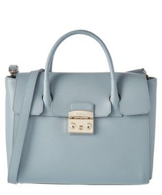 FURLA Furla Metropolis Medium Leather Satchel'. #furla #bags #shoulder bags #hand bags #leather #satchel #lining #
