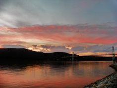 Hudson River Sunset  Poughkeepsie NY