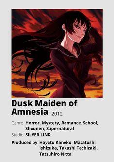 Anime Fr, Otaku Anime, Anime Love, Good Anime To Watch, Anime Watch, Dusk Maiden Of Amnesia, Animes To Watch, Anime Suggestions, Anime Titles