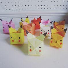 Pokemon origami craft