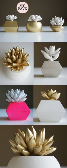 via MadeByGirl: Waterstone Succulents - gorgeous succulent sculptures