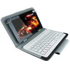 [USD12.33] [EUR11.26] [GBP8.90] Universal Bluetooth Keyboard with Leather Case & Holder for Ainol / PiPO / Ramos 9.7 inch / 10.1 inch Tablet PC(Black)