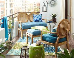 Make a small balcony feel as big as the sky.