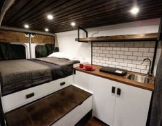 Adorable Wood Interior Ideas For Sprinter Van Camper, Volkswagen campers stick out from the crowd. A Sprinter van camper is readily the most flexible type of Sprinter RV. Our very last RV had one small ba. Diy Van Conversions, Cargo Trailer Conversion, Sprinter Van Conversion, Conversion Van, Converted Cargo Trailer, Campervan Conversions Layout, Enclosed Trailer Camper Conversion, Transit Camper Conversion, Diy Camper