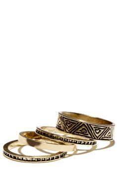 aztec ring stacking set