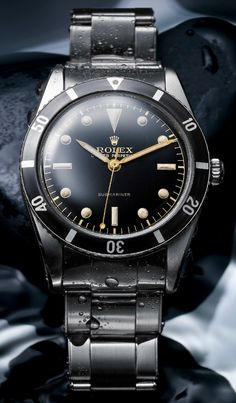 The First ROLEX Submariner Watch. Rolex produced the very first Submariner in 1953 with this model ref. 6204 watch. The Oyster Perpetual Submariner would go on to not only become one of the most iconic timepieces in the world, but also one of the most heavily emulated, desired, and studied...