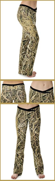 Girls With Guns Clothing Mossy Oak Shadow Grass Blades Lounge Pants with Gold