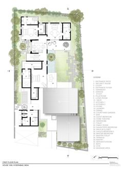 hotel floor plan House Series of Cantilevered Roofs and Gardens Offers Sheltered Hangouts Luxury House Plans, Modern House Plans, House Floor Plans, Cantilever Architecture, Architecture Plan, Architectural Floor Plans, Architectural Section, Villa Design, House Design