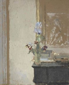"amare-habeo: "" Edouard Vuillard (French, Iris et pensées, N/D "" Painting Still Life, Still Life Art, Paintings I Love, Painting Frames, Painting & Drawing, Painting Doors, Interior Painting, Painting Tips, Painting Techniques"