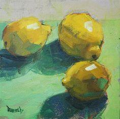 "Daily Paintworks - ""Palette of Lemon"" - Original Fine Art for Sale - © Cathleen Rehfeld Lemon Painting, Fruit Painting, Painting Still Life, Still Life Art, Fruit Art, Art Plastique, Fine Art Gallery, Art Techniques, Painting Inspiration"