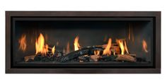 FullView Décor Linear model ML47 with Grace front in Aged Leather finish. Fireplace Fronts, Fireplace Inserts, Gas Fireplace, Hearth, Model, Leather, Log Burner, Home