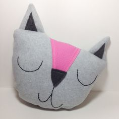 Cat Pillow, Kids animal pillow, girls room decoration, nursery decoration, kitten pillow, animal bedding, kids toy, plush cat, stuffed cat