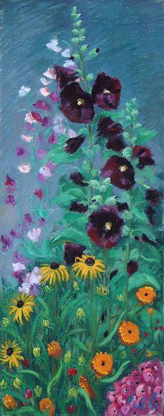 Malven und Wicken Wicken, Painting, Art, Woodblock Print, Watercolor, Landscape, Drawing S, Pictures, Art Background