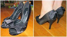Redesign of stilettos. And dress to skirt refashion DIY. Saga i farver: Kjole til nederdel og redesign af stiletter