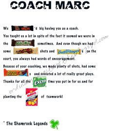 coach thank you poem   Sports   Pinterest   Poem, Coach ...