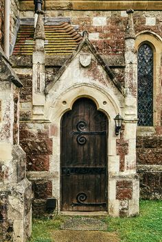 Door in a one thousand year old Anglican church