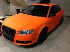 Audi S4 blaze orange plasti-dip