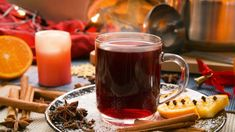 Non-alcoholic mulled wine with Hibiscus Hot drink with the aroma of spices will give prazdnika. Christmas Cocktails, Christmas Wine, Christmas Recipes, Non Alcoholic Mulled Wine, Mulled Wine Spices, Winter Drinks, Cold Drinks, Swedish Recipes, Christmas Drinks Alcohol